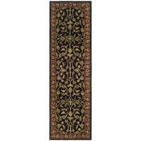 Safavieh Handmade Heritage Timeless Traditional Black/ Red Wool Rug - 2'3 x 6'