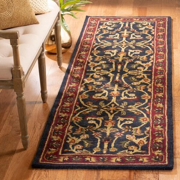 "Safavieh Handmade Heritage Timeless Traditional Black/ Red Wool Rug - 2'3"" x 6'"