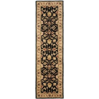 Safavieh Handmade Heritage Timeless Traditional Black/ Gold Wool Rug (2'3 x 22')