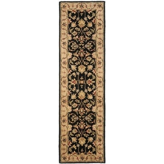 Safavieh Handmade Heritage Timeless Traditional Black/ Gold Wool Rug (2'3 x 6')