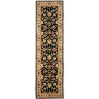 Safavieh Handmade Heritage Timeless Traditional Black/ Gold Wool Rug - 2'3 x 6'