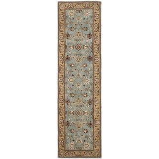 Safavieh Handmade Heritage Timeless Traditional Blue/ Gold Wool Rug (2'3 x 22')