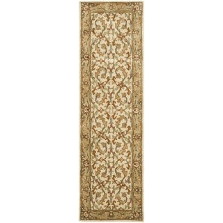 Safavieh Handmade Heritage Timeless Traditional Beige/ Gold Wool Rug (2'3 x 6')
