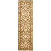 "Safavieh Handmade Heritage Timeless Traditional Beige/ Gold Wool Rug - 2'3"" x 6'"
