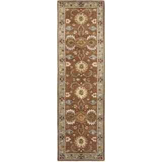 Safavieh Handmade Heritage Timeless Traditional Brown/ Blue Wool Rug (2'3 x 20')|https://ak1.ostkcdn.com/images/products/7583992/P15010728.jpeg?impolicy=medium