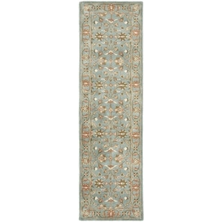 Safavieh Handmade Heritage Timeless Traditional Blue Wool Rug (2'3 x 6')