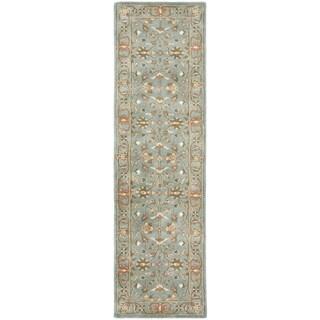 Safavieh Handmade Heritage Timeless Traditional Blue Wool Rug (2'3 x 6')|https://ak1.ostkcdn.com/images/products/7583994/P15010730.jpeg?_ostk_perf_=percv&impolicy=medium