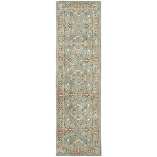 Safavieh Handmade Heritage Timeless Traditional Blue Wool Rug (2'3 x 6')