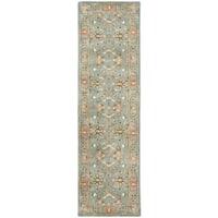 "Safavieh Handmade Heritage Timeless Traditional Blue Wool Rug - 2'3"" x 6'"