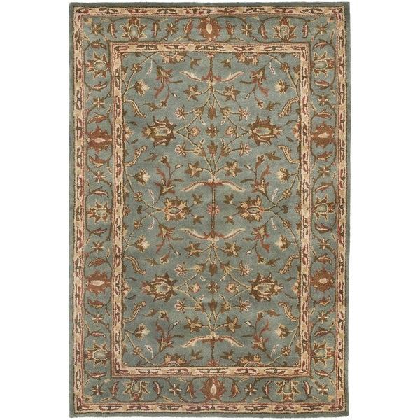 Safavieh Handmade Heritage Timeless Traditional Blue Wool Rug - 3' x 5'