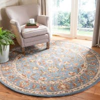 Safavieh Handmade Heritage Timeless Traditional Blue Wool Rug - 3' x 5'