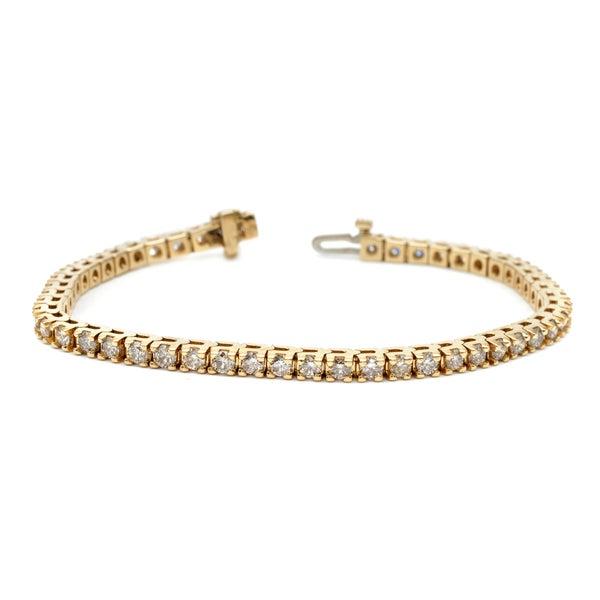 Auriya 14k White or Yelllow Gold 7ct TDW Diamond Tennis Bracelet