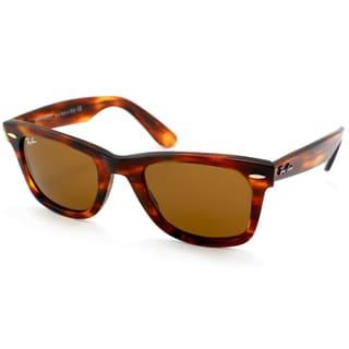 Ray-Ban Unisex RB2140 Original Wayfarer Light Tortoise Sunglasses