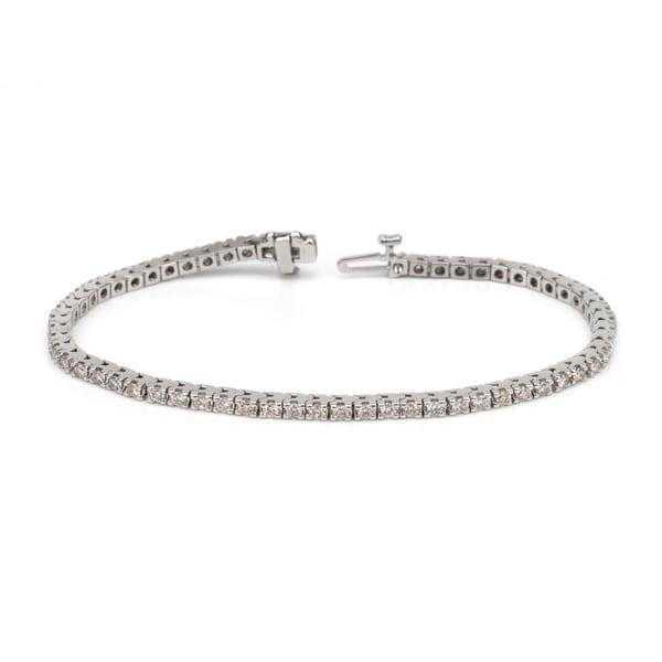 Auriya 14k White or Yellow Gold 5ct TDW Diamond Tennis Bracelet (H-I, I1-I2)
