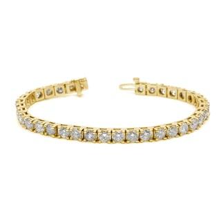 Auriya 14k White or Yellow Gold 12ct TDW Diamond Tennis Bracelet