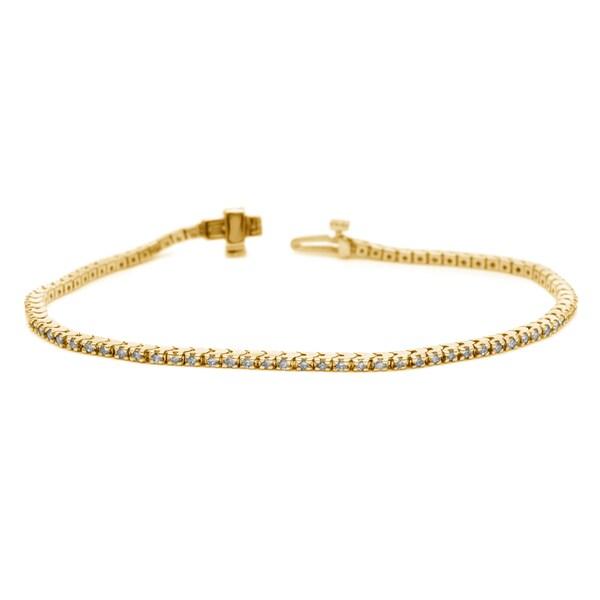 Auriya 14k White or Yellow Gold 3ct TDW Diamond Tennis Bracelet (H-I, I1-I2)