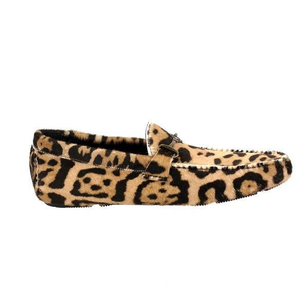 Roberto Cavalli Men's 'Macula' Animal Print Loafers