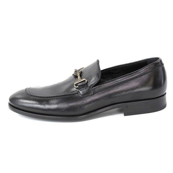 Robert Cavalli Men's 'Vitellino Nero/Camoscio' Dress Shoes