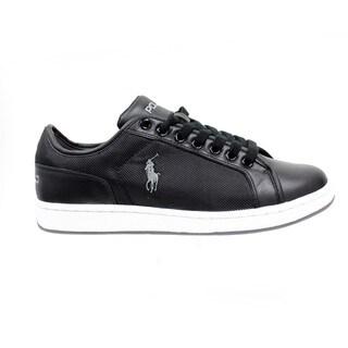 Ralph Lauren Men's 'Trevose' Black Low-Top Sneakers