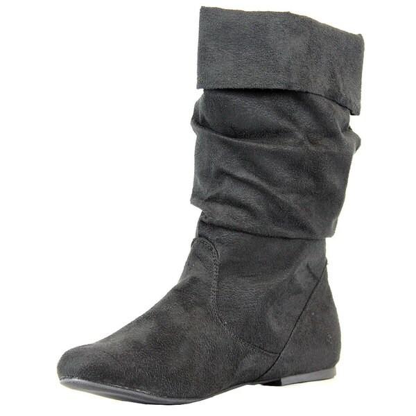 Stanzino Women's 'Yetta' Black Faux Suede Slouchy Boots