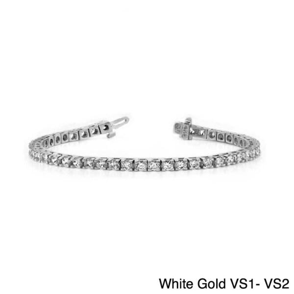 14k Gold 12ct TDW Round Diamond Tennis Bracelet (G-H, SI or VS)