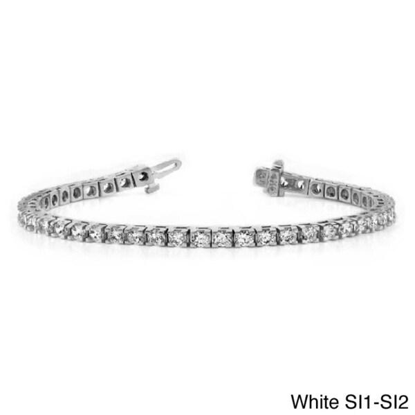 14k Gold 8ct TDW Round Diamond Tennis Bracelet (VS or SI)