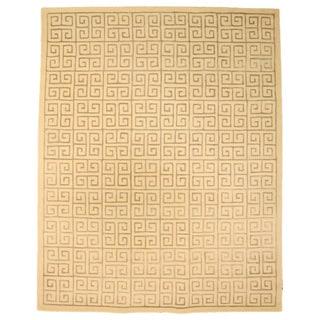 EORC Hand-tufted Wool Ivory Ivory Ethos Rug (5' x 8')