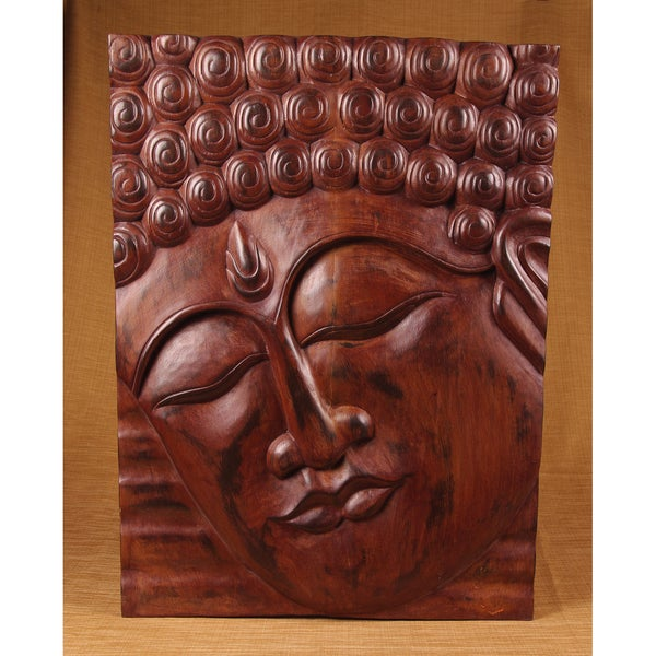 Hand-Carved Buddha Panel (India)
