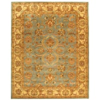 Safavieh Handmade Heritage Timeless Traditional Blue/ Beige Wool Rug - 12' x 15'