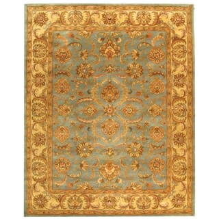 Safavieh Handmade Heritage Timeless Traditional Blue/ Beige Wool Rug (12' x 18')