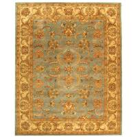 Safavieh Handmade Heritage Timeless Traditional Blue/ Beige Wool Rug - 12' x 18'
