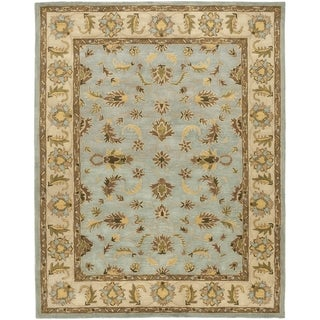 Safavieh Handmade Heritage Timeless Traditional Light Blue/ Beige Wool Rug (12' x 18')