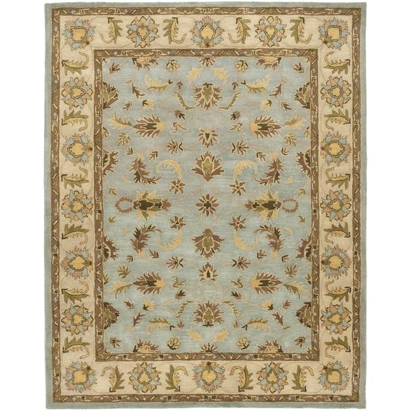 Safavieh Handmade Heritage Timeless Traditional Light Blue/ Beige Wool Rug (12' x 18')