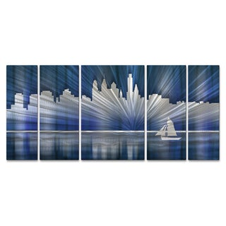 Ash Carl 'Cool Philadelphia Skyline' Metal Wall Art