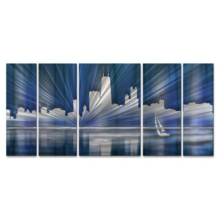 Ash Carl 'Cool Chicago Skyline' Metal Wall Art