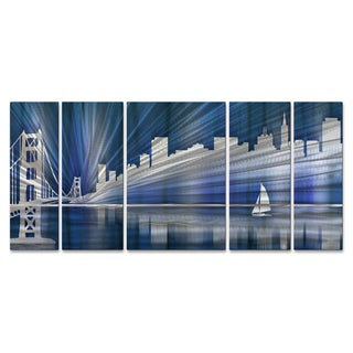 Ash Carl 'Cool San Francisco Skyline' Metal Wall Art