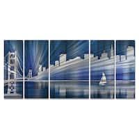 Ash Carl 'Cool San Francisco Skyline' Metal Wall Art