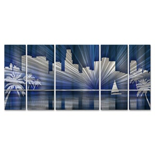 Ash Carl 'Cool Los Angeles Skyline' Metal Wall Art