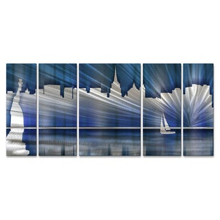 Ash Carl 'Cool New York Skyline' Metal Wall Art
