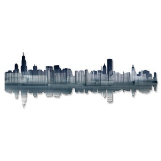 Ash Carl 'Chicago Reflection' Metal Wall Art