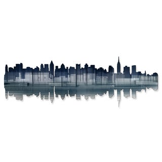 Ash Carl 'New York City Reflection' Metal Wall Art
