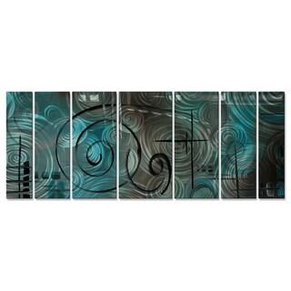 Megan Duncanson 'Aqua Mist' Metal Wall Sculpture