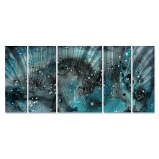 Megan Duncanson 'Turquoise Ecstasy' Metal Wall Art