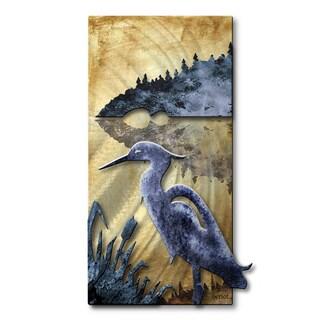 Josh Heriot Blue Herring Metal Wall Art