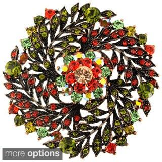 Multicolor Flower Wedding Crystal Pin Brooch