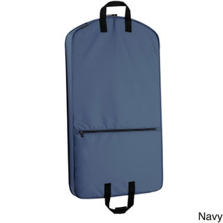 WallyBags 42-inch Garment Bag with Pocket (Option: Navy)