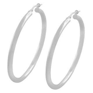 Fremada Sterling Silver 3-mm Round Polished Hoop Earrings