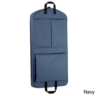 WallyBags 45-inch Extra Capacity Garment Bag with Pockets (Option: Navy)