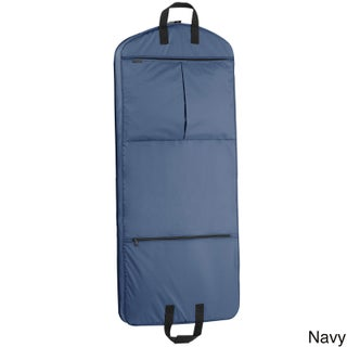 WallyBags 52-inch Garment Bag with Pockets (Option: Navy)