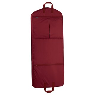 WallyBags 52-inch Garment Bag with Pockets (Option: Red)